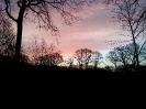 uitzicht bij opkomende zon in de winter